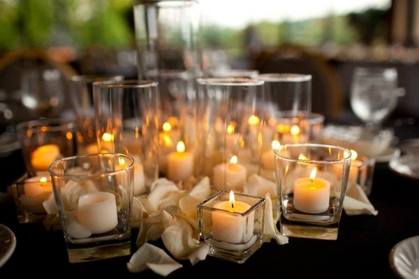 Wedding Decoration Candle arrangements